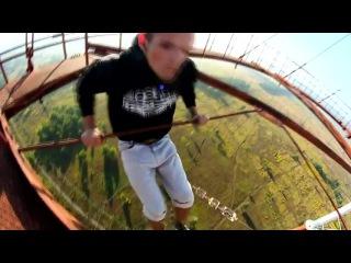 Видео-Подборка реально страшных и отмороженных трюков на высоте Человек Паук или Mustang Wanted экстрим руферы прикол