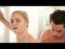 Развратная белокурая жена потрахалась с мужем в ванной комнате [Порно и Секс 18+]