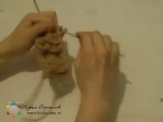 Прямоугольный коврик рельефной вязки