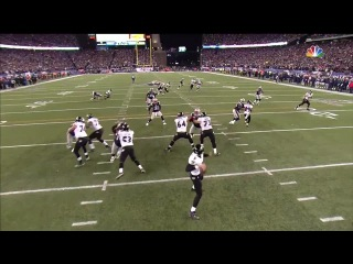 Flacco intercepted by McCourty