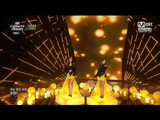 150122 Davichi - Sorry Im Happy Cry Again @ M! Countdown Comeback Stage