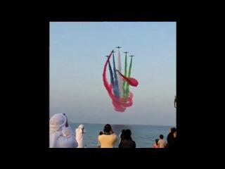Парад самолетов ОАЭ