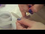 Дизайн ногтей Свитер (косички на ногтях) по технике бархатный песок