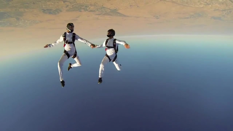 Русские парашютисты - скайдайверы в Дубае, GoPro: Synchronized Skydive in Dubai, skydiving, парашютный спорт, экстрим