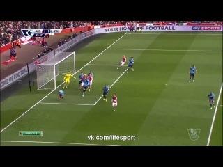 Арсенал 1 0 Сток Сити Гол Косьелни