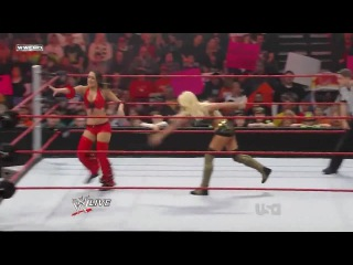 Raw January 04.2010- Maryse.vs.Brie.Bella
