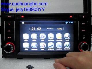 Ouchuangbo PAJERO V97 V93 2006 2011 audio stereo autoradios android 4 2 system