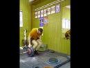 Подъем за зеленый полтинник 70 кг (диск 50 кг + 20 кг дополнительного веса)