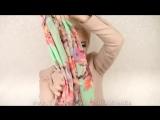 Как красиво завязать шарф или платок.