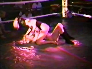 Female Wrestling in the Ring at NightClub