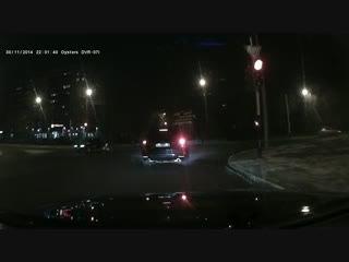 Авария 30.11.2014 в 21-00 на Карагандинской-Восточной.