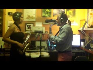Transparent Vibratosax 'The Nude' and brass alto- Take Five