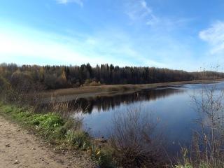 озеро Пашозеро вид с дамбы