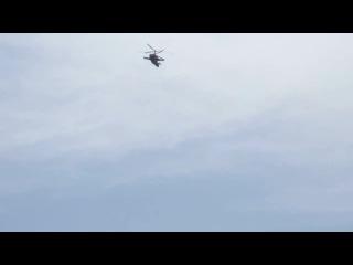 Высший пилотаж на военном вертолёте