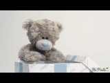 Видео-открытка Мишка Тедди