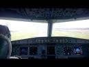 посадка airbus A-320 в домодедово