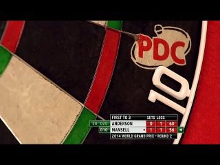 Gary Anderson vs Michael Mansell (World Grand Prix 2014 / Second Round)