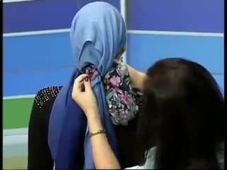 Как завязать платок на голове зимой