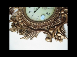 Резные часы в стиле рококо. Золочение, состаривание битумным лаком.
