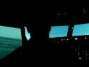 Тренировочный полет на тренажере Боинг 737-800, аэропорт Рига, взлет, полет по кругу, посадка