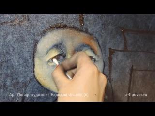 Авторская техника живописи Надежды Ильиной - техника
