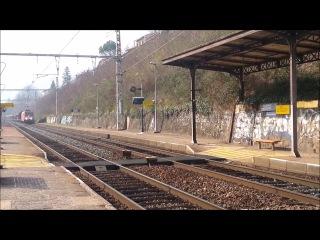SPOT FERROVIAIRE TER TGV FRET COUZON AU MONT D'OR MARS 2014 PART 1