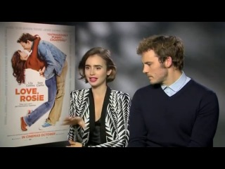 Video lily collins reveals 'love, rosie' baby hated sam claflin