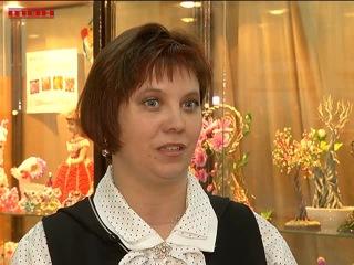 Выставка работ бисероплетения в Гоголевке [ТВН 25.12.2014]