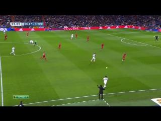 Чемпионат Испании 2014-15 / Примера / 16-й тур (пропущенный матч) / Реал М - Севилья / 1 тайм [720p HD]