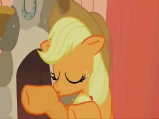 Rarity and Applejack's Ghost stories about the Flying Dutchman