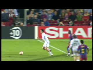 Barcelona Panathinaikos 5 0 Messi first goal in CL 02 11 2005 HD