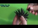 3D оригами Ночная Фурия из мультфильма Как поймать дракона