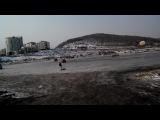 дрифт по льду.Владивосток 3.01.15
