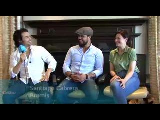 Интервью Сантьяго, Говарда Чарльза и Мэйми МакКой для BBC Entertainment