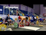 Tian Tao (85kg, China) does some Floating Snatch Grip Deadlifts