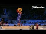 Ruslan Albegov 210kg Snatch Almaty 2014 World Championships