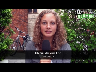 Easy German Verbs - Brauchen (to need) + Accusative - Mp4 - 720p