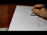Как просто нарисовать 3Д 3D рисунок своими руками