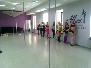 Готовим групповой танец на 5-ти летие клуба ALLURE...12.10.2014