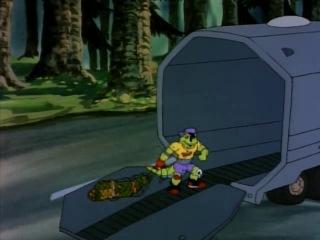Черепашки Мутанты Ниндзя (1987). Сезон 5, серия 4. Микеланджело встречает Мондо Гекко (Michaelangelo Meets Mondo Gecko)
