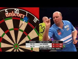 Michael van Gerwen vs Vincent van der Voort (World Grand Prix 2014 / First Round)