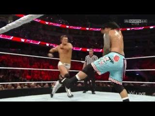 (WWEWM) ВВЕ РО 29.12.2014 - Миз и Дэмиен Миздоу (ч) против Братьев Усо (Матч за титулы Командных Чемпионов WWE)