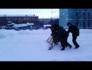в/ч 49324 рота охраны уборка снега(2013г)