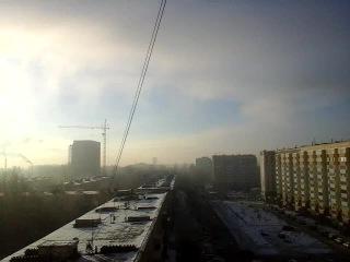 низкая облачность (как рассеивается туман) в кольцово