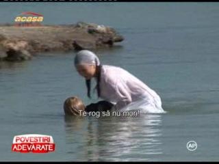 Secventele din Iubire si onoare in care Ilinca e salvata de la inec, filmate cu mari emotii