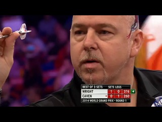 Peter Wright vs Jamie Caven (World Grand Prix 2014 / First Round)