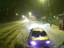 уборка от снега микрорайон Солнечный ул. Славы. 01.01.2014 г. время 04.30