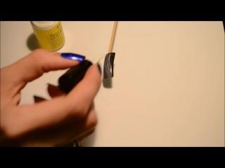 Литье переводной фольгой для ногтей на гель-лак