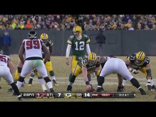 American football, NFL  2014, week 14, Packers vs Falcons (part 1)