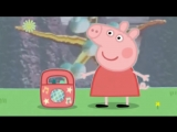 Peppa pig listens to chill out music